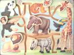 Animal puzzle maze board