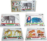 1335: Eric Carle 123 at the Zoo Puzzle (set of 4)