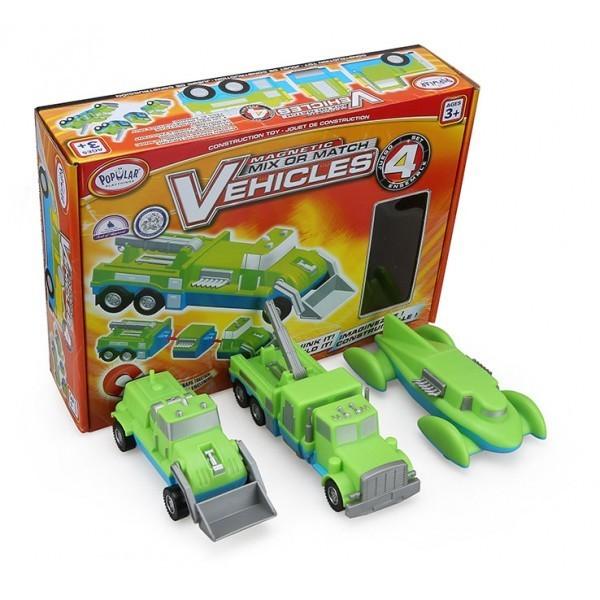 2264: Mix or  Match Magnetic Vehicles - Set 4