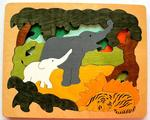 Asian animals layer puzzle