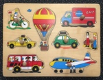 P23A: Vehicles & People Puzzle with knobs