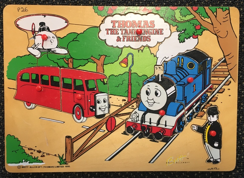 P26: Thomas the Tank Engine and friends Puzzle with knobs