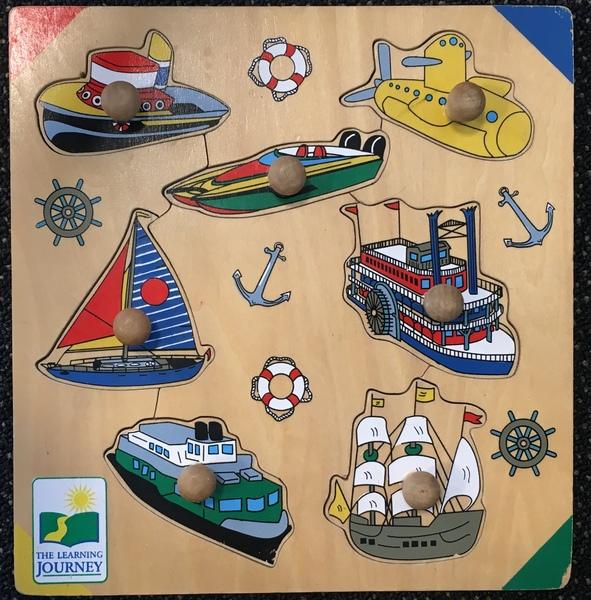 P62: Ocean Travel Large Knob Puzzle