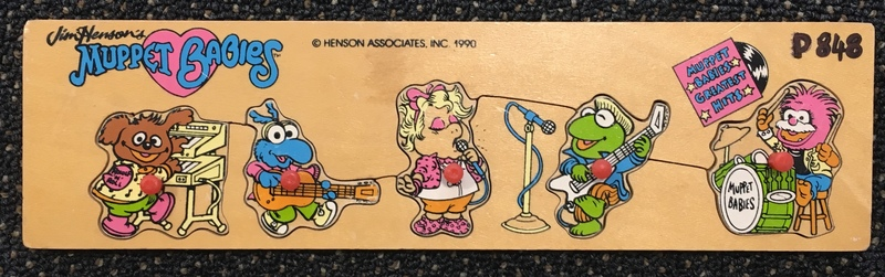 P848: Muppet Babies Puzzle  with knobs