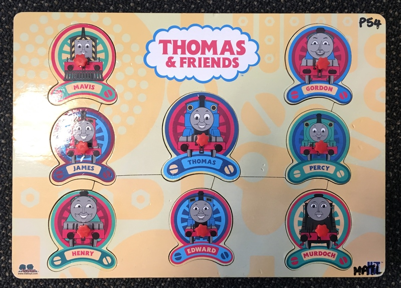 P54: Thomas and Friends Puzzle with knobs