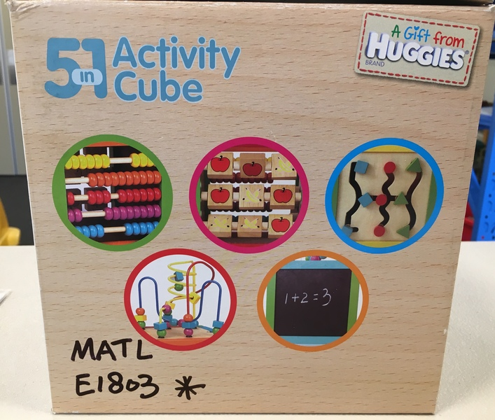 B1803A: Huggies 5 in 1 Activity Cube