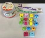 E1814: Wood Toys Thread Through Beads
