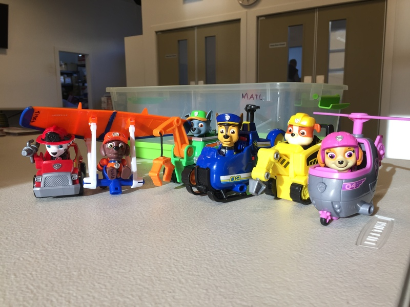 T1906: Paw Patrol Small Figures and Vehicles set of 6