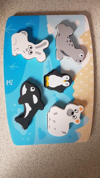 P1912: Hape Polar Animal Tactile Puzzle