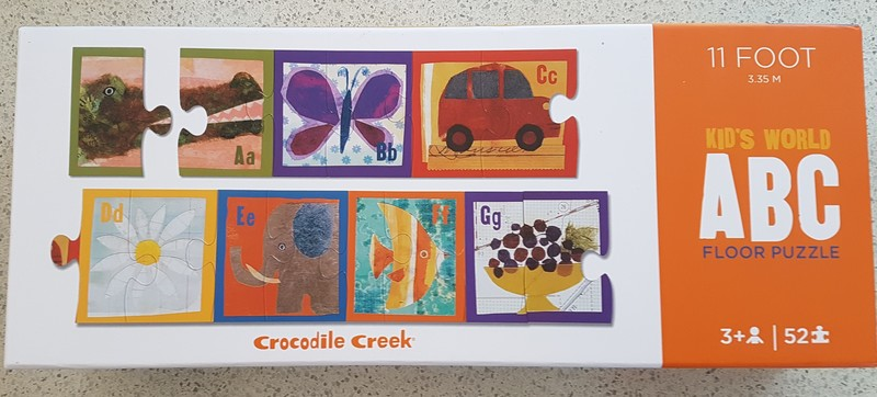 P1929: Crocodile Creek Kid's World ABC Puzzle
