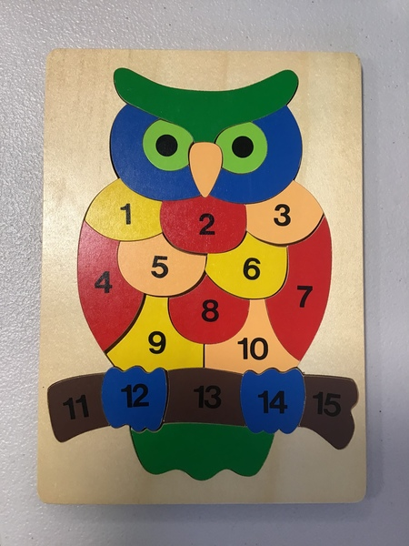 P1930: Owl Number 1 to 15 Puzzle