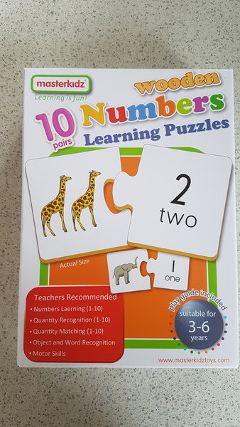 G1918: Masterkidz 10 Numbers Learning Puzzles