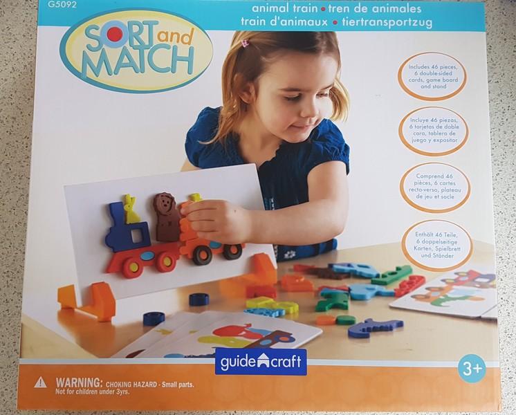 L1907: Guide Craft Sort & Match Animal Train