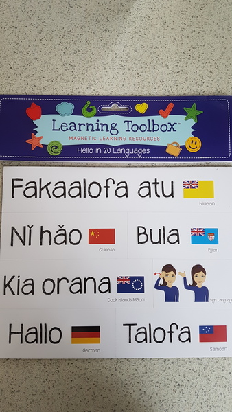 E1907: Learning Toolbox Hello in 20 Languages Magnets