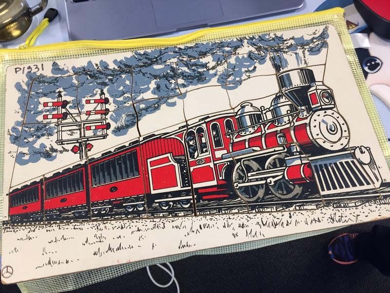 P1931: Vintage Train Puzzle