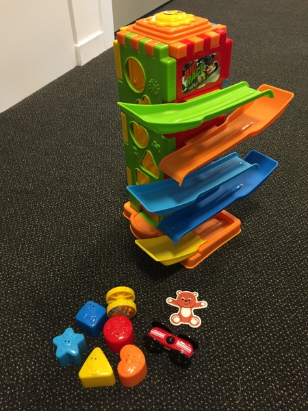 B1921: Playgro Baby Activity Tower with Car Ramp