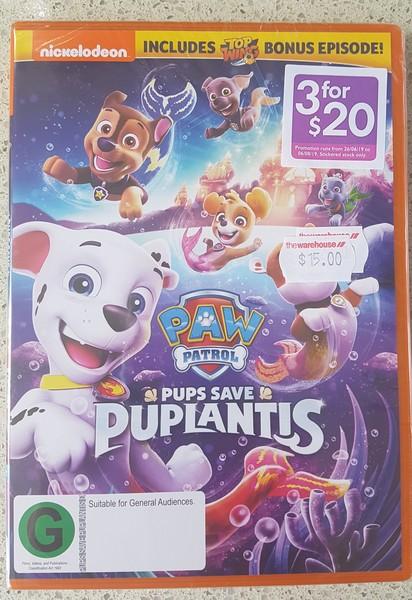 DVD1913: Paw Patrol Pups Save Puplantis