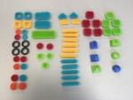 C1705: Bristle Blocks 59 pieces
