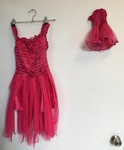 D28: Hot Pink Fairy dress with doll dress