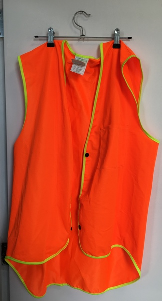 D35: Orange Fluro Vest - dress up