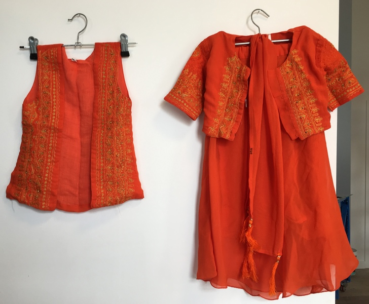 D40: Four Piece Orange Dress Up