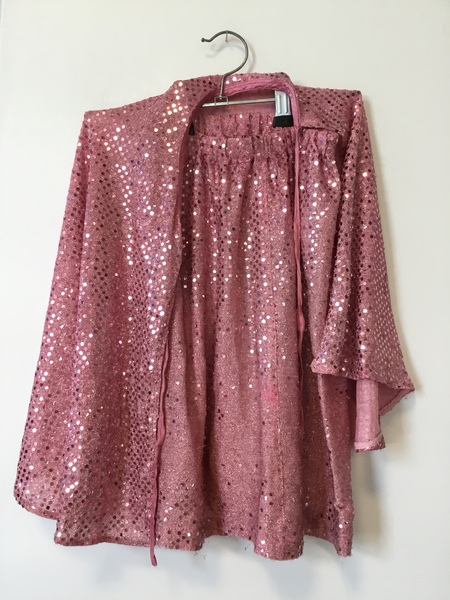 D1046: Pink Cape and Skirt