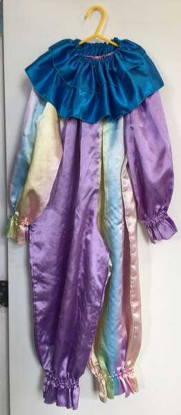 D1100: Purple clown with frill - dress up