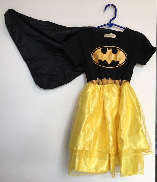 D1709A: Batgirl Dress Age 2-3yrs