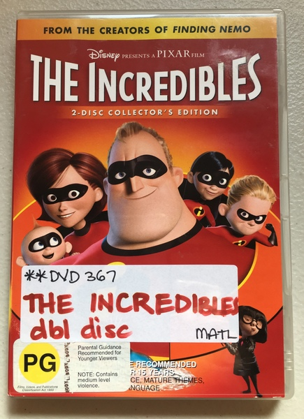 DVD367: The Incredibles - dbl disc