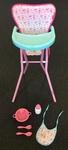 D1707A: ELC Cupcake Highchair with bowl/bib/bottle/fork/spoon/
