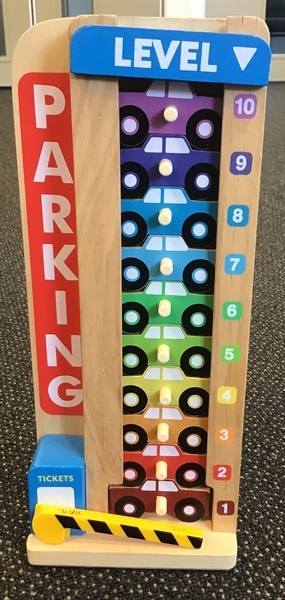 E1603: Melissa & Doug Stack & Count Parking Garage