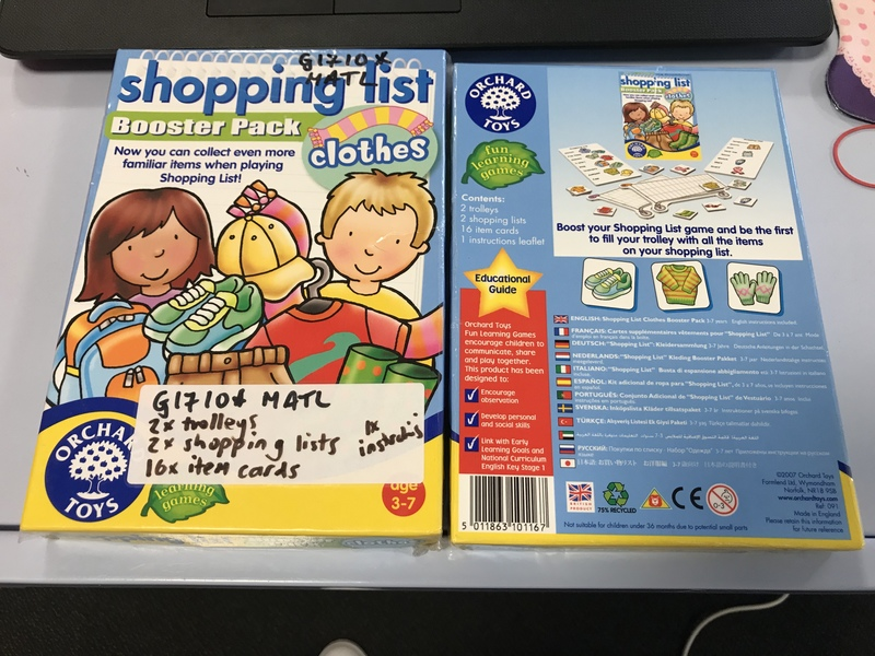 G1710: Orchard Toys Shopping List Booster Pack - Clothes