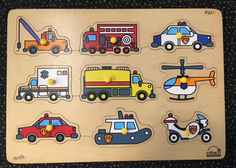 P21: Educo Transport Puzzle with knobs