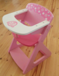 Ea4: Pink Wooden High Chair