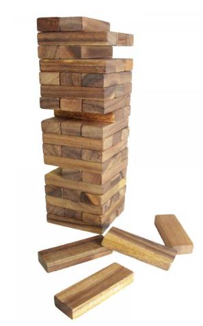 Pp22: Giant Stacking Jenga Game Set 1