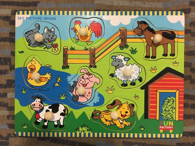 J48: Farm Animal Peg Puzzle