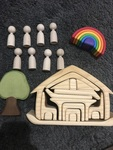 R276: Small World Wooden Toy Set