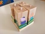 J67: Peppa Pig Wooden Stacking Puzzle