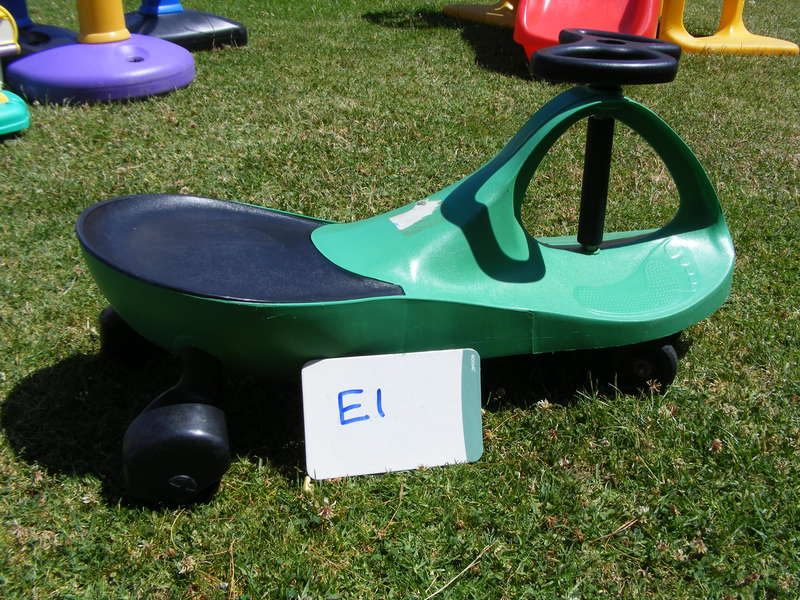E1: Little green ride on