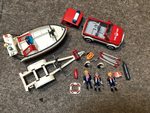 N410: PLAYMOBIL MARINE FIRE RESCUE VEHICLE & BOAT