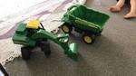 D2: John Deere dump truck and excavator