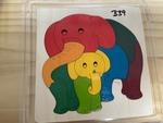 B39: GEORGE LUCK - RAINBOW ELEPHANTS PUZZLE