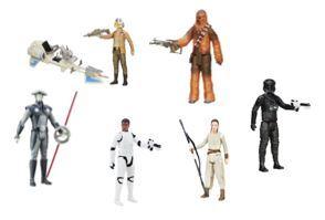 892: Star wars figures and speeder bike