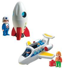 1157: Playmobil 123 Rocket and Plane