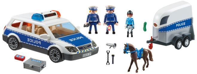 103: Playmobil Police Car and Horse Float