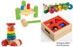 28: Wooden Developmental Baby Box 12m+