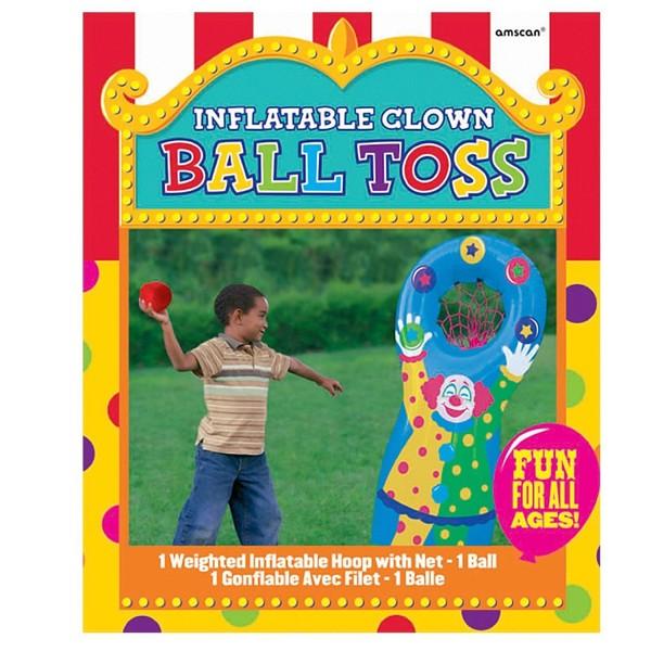 P07: Inflatable Clown Ball Toss Game