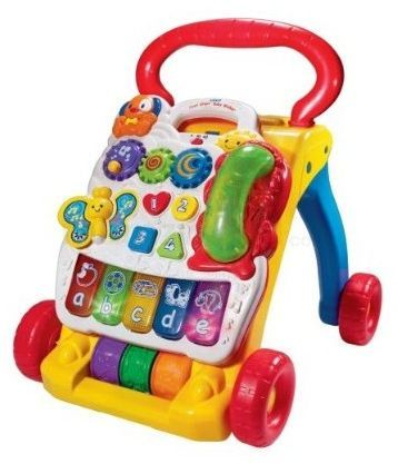 B05: Vtech Yellow First Steps Baby Walker