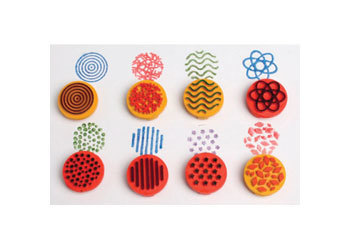 A14: Paint & Clay Finger Printers 3cm – Set of 4