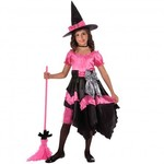 R34: Girls Pink Witch Costume